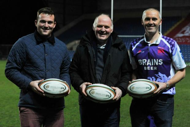 Exiles fans (from left) Michael Davies, Duncan Nicholl and Gareth Jones