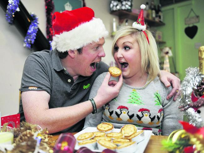 Amy's partner Rollo Beale invites her to tuck into a mince pie