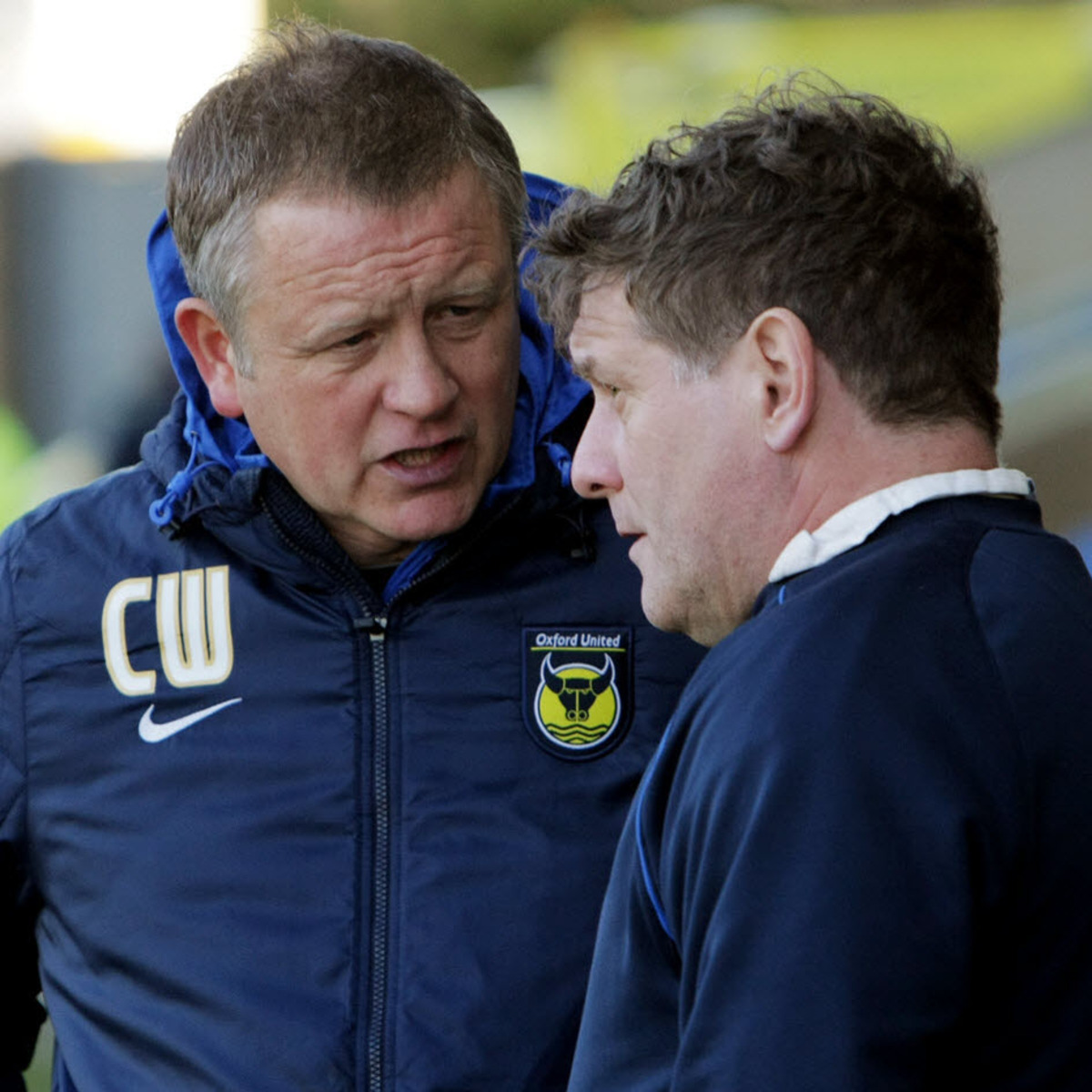 United manager Chris Wilder and assistant Mickey Lewis talk tactics during Sunday's 2-0 defeat at home to Scunthorpe. Wilder wants a big improvement at Newport