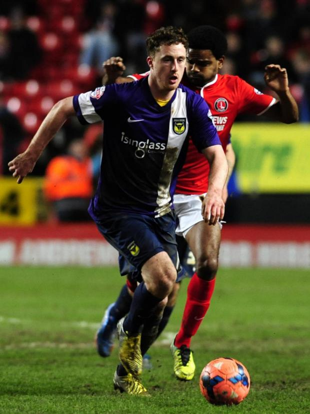Oxford Mail: Scott Davies on the charge for United at Charlton