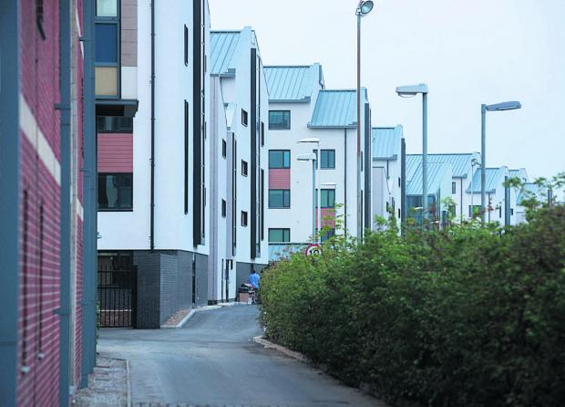 Oxford Mail: Castle Mill accommodation viewed from Roger Dudman Way