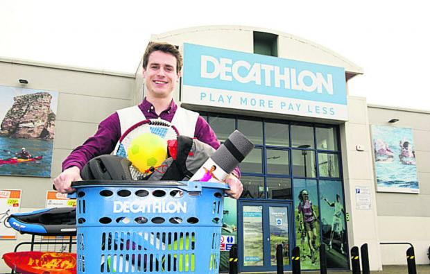 Michael McHale, store manager of Decathlon, Oxford