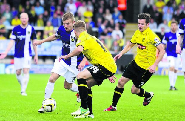 Oxford Mail: Alfie Potter's excellent start to the season included a stunning goal at Burton Albion