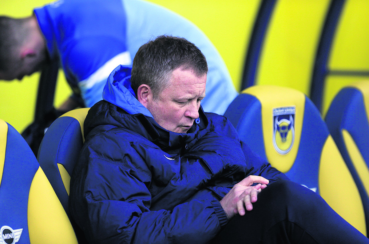 Chris Wilder has resigned as Oxford United manager