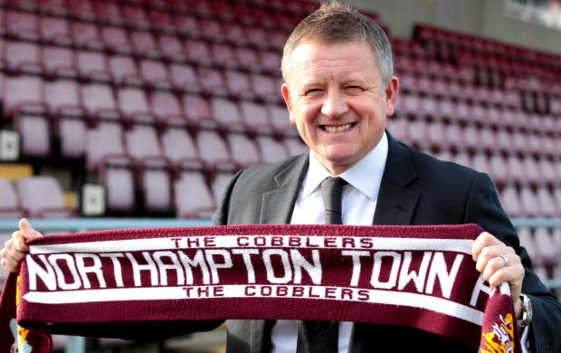 Oxford Mail: Chris Wilder is unveiled as the new Northampton Town manager at Sixfields yesterday Picture: Kirsty Edmonds