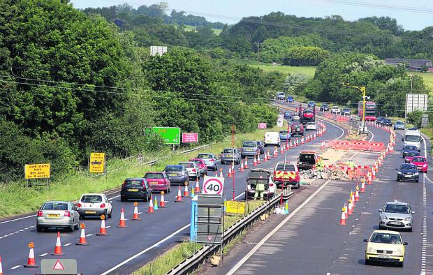 The fateful A40 roadworks at Wheatley