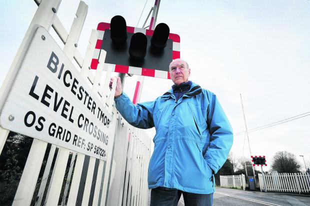 John Broad, Bicester representative of the Campaign to Protect Rural England, is against plans for a bridge to be built over the London Road level crossing. Picture: OX64940 Jon Lewis