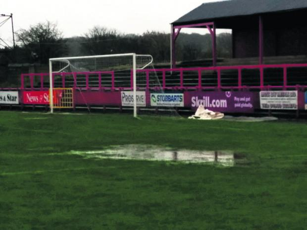 Workington's Borough Park pitch on Saturday