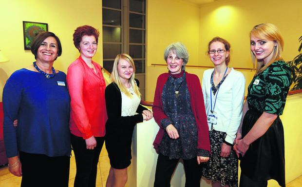 Oxford Mail: Consultant clinical psychologist Nicky Boughton, with Anna King, Becky Chester, Jane Donnelly, Becky McKnight and Tiffany Saunders, who have all attended the unit as patients. Picture: OX64928 Damian Halliwell