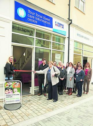 Deputy mayor Lynn Pratt opened the new Fostering Solutions office in Bicester's Pioneer Square