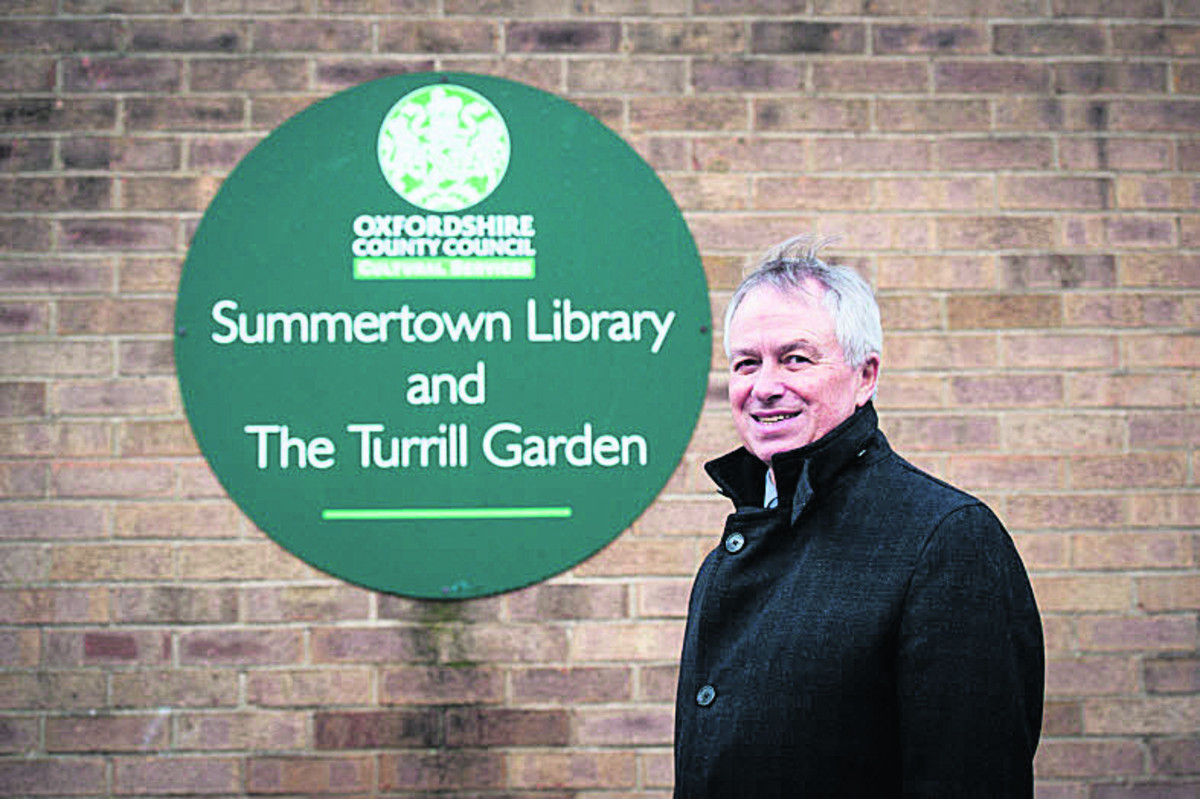 Marcus Ferrar, chairman of the Friends of Summertown Library