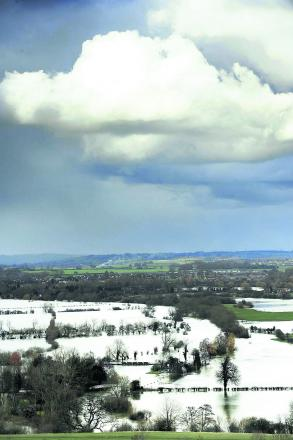 The view from Wittenham Clumps during the floods earlier this year