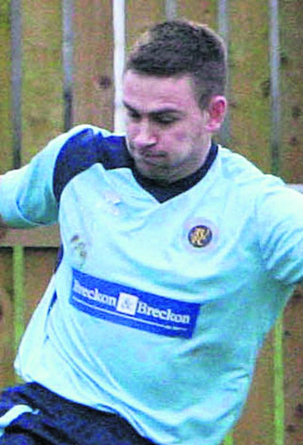 Oxford Mail: Ardley United's Ryan Brooks scored a hat-trick in the 5-1 thrashing of Newbury on Saturday