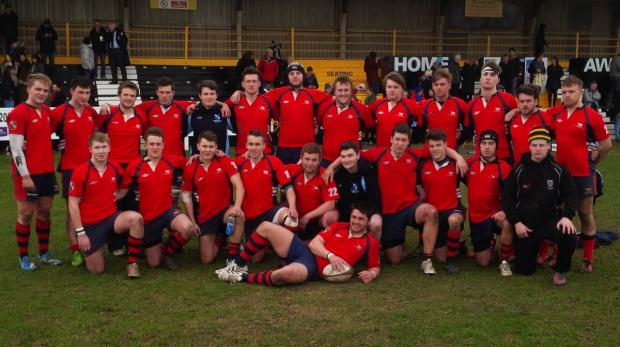 Oxfordshire Under 20s line up after the match