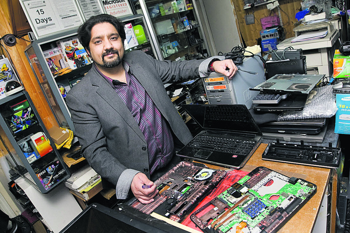 Yasir Hanif of Yasai Computers in Headington is considering employing a security guard