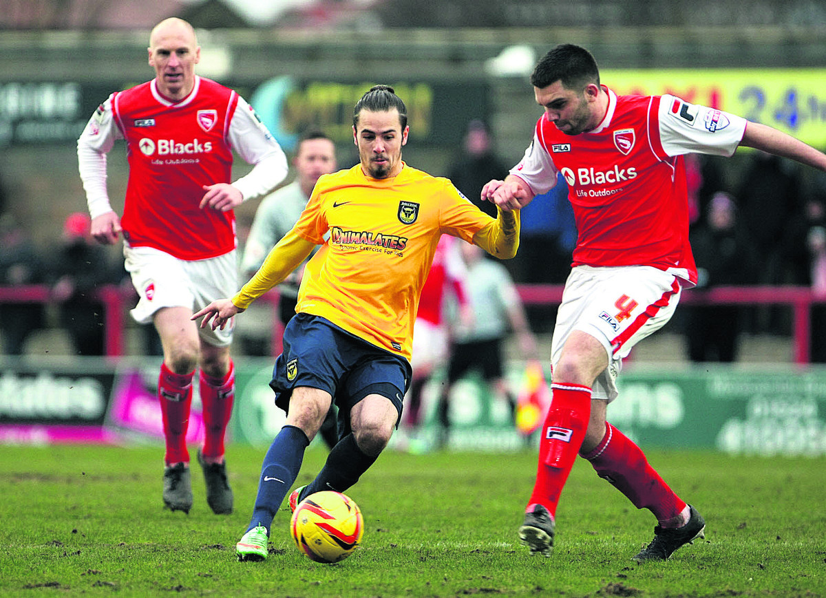 Ryan Williams in action at Morecambe last week