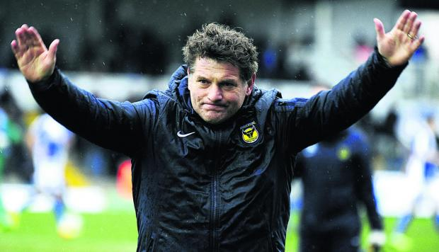 Oxford Mail: Mickey Lewis is hoping Oxford United can inflict damage on a promotion rival by winning at Rochdale tomorrow