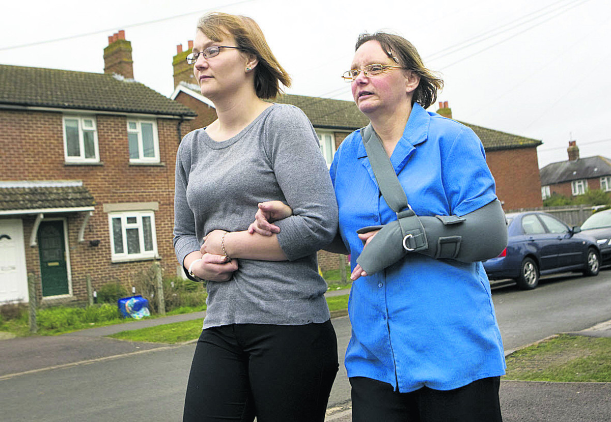 Karen Morgan, right, with her daughter Lisa Smith Picture: OX65509