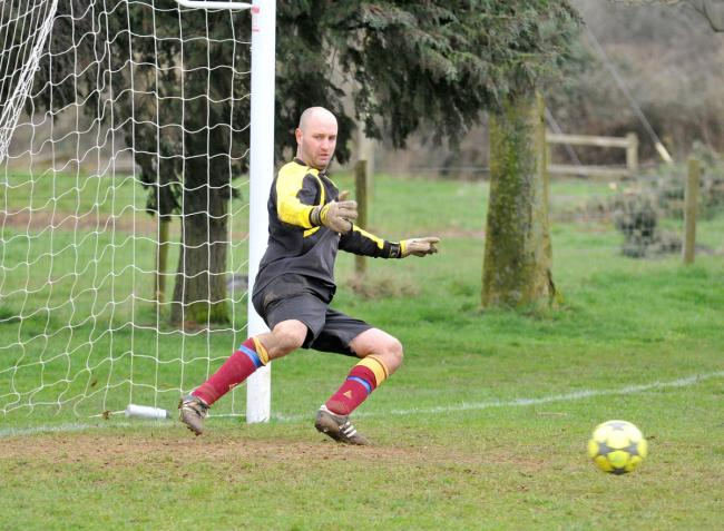 North Oxford CC goalkeeper Chris Douglas
