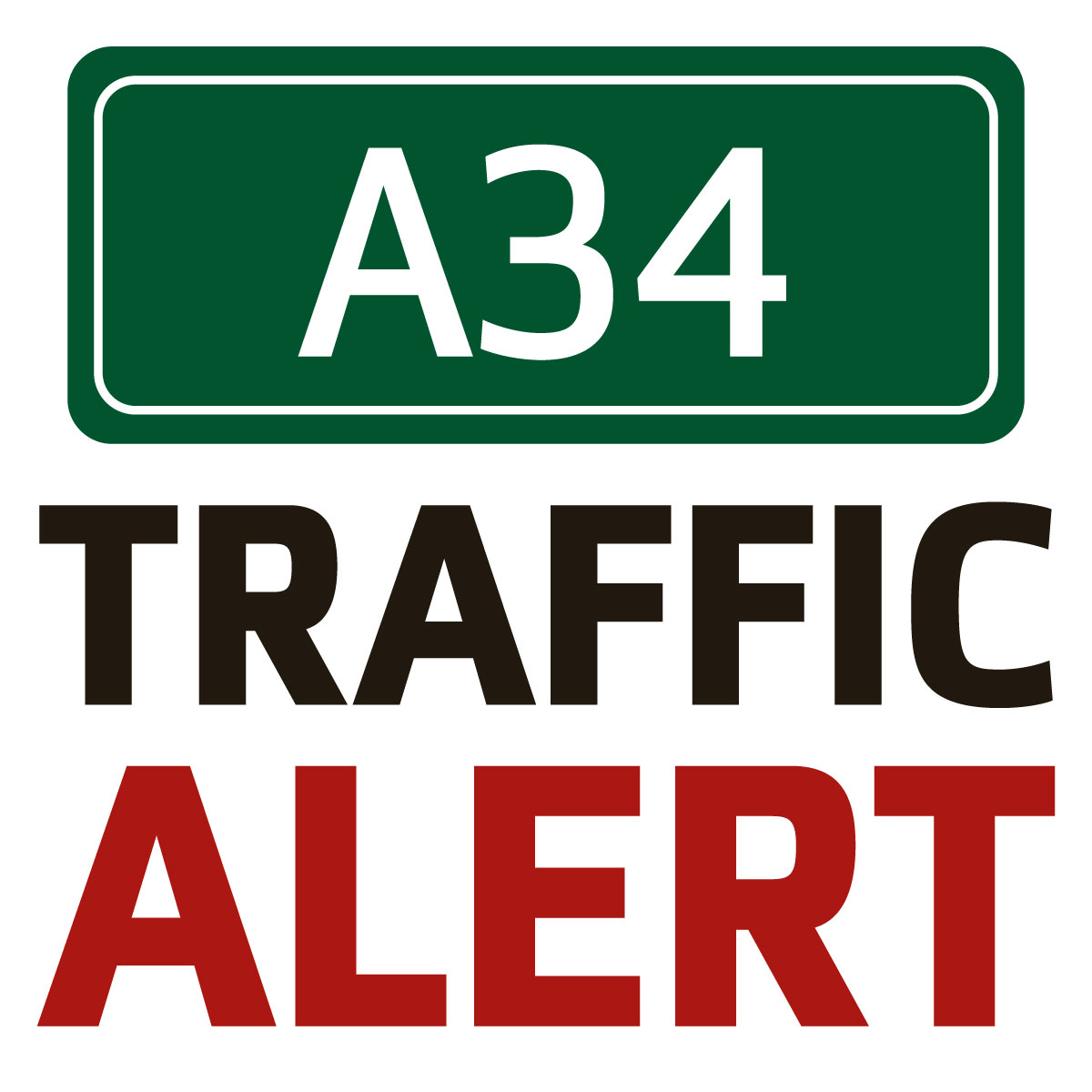 Delays on A34 after three vehicle crash