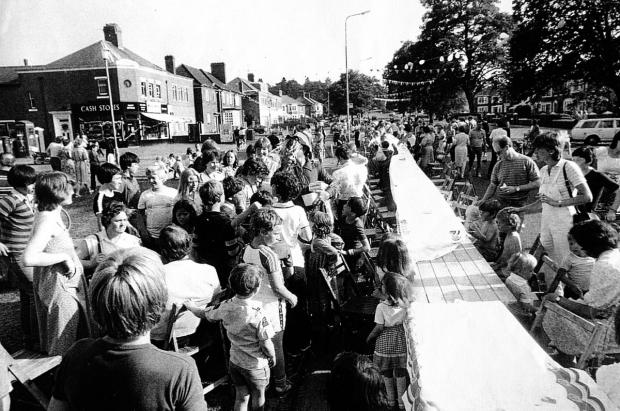 A children's street party on Florence Park Road in 1981