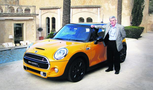 David Duffy views the new Mini Cooper S in Majorca