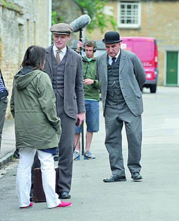 Filming of Downton Abbey in Bampton