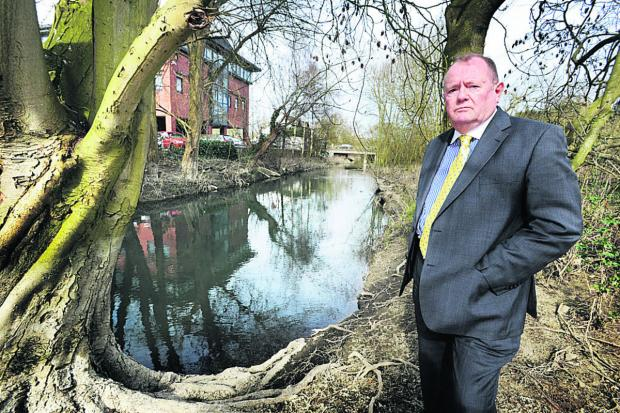 County council deputy leader Rodney Rose at Seacourt Stream, near Botley Road
