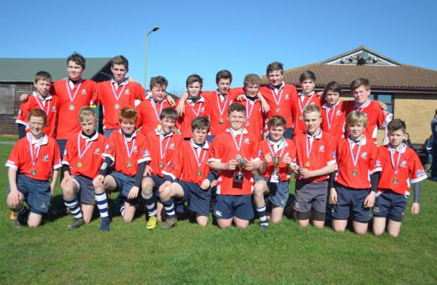 Oxford Mail: Banbury Under 13s with the Oxfordshire Cup