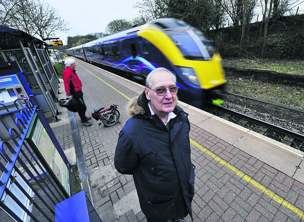 Andrew Wilkins, treasurer of the Cotswold Line Promotion Group and Hanborough parish representative for transport, at Long Hanborough station