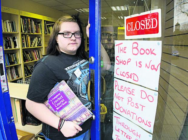 Georgia Poole, manager of the Sobell Bookshop on the Plain, which is closing down