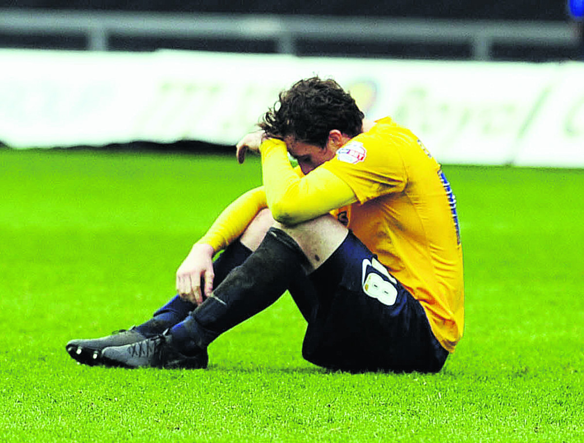 United midfielder Scott Davies's reaction at the final whistle against Fleetwood Town sums up the club's slump in the Sky Bet League Two promotion race