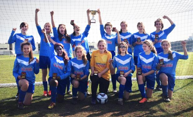 Didcot Girls School with the Oxfordshire Under 16 Cup