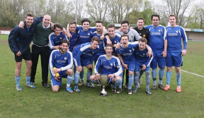 Cropredy celebrate their 3-1 triumph against North Oxford Conservative Club