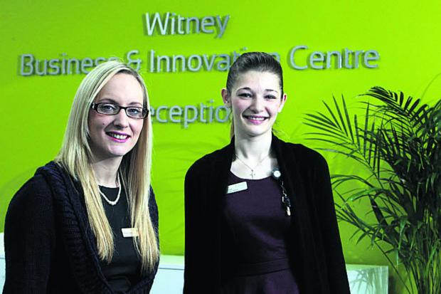 Stephanie Henwood, left, manager of Witney Business and Innovation Centre, with Jemma Parsloe