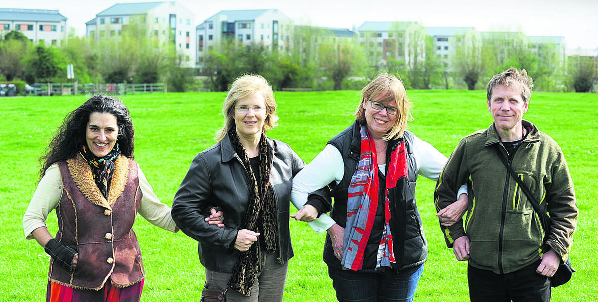 Save Port Meadow Campaigners Sushila Dhall, Sue Gerhardt, Dr Sietske Boeles and Richard Luff hope flats are reduced in height