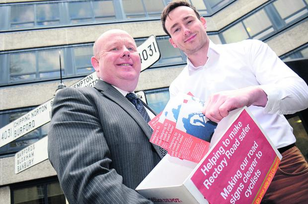County council leader Ian Hudspeth receives the petition from Tom Hayes Picture: OX66472 Marc West