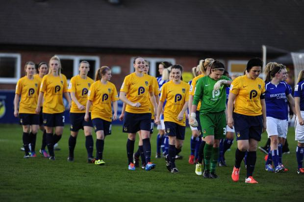 Oxford Mail: Oxford United walk out for the first time to play in the Women's Super League