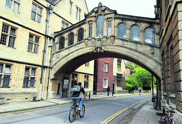 The pleasure of cycling in Oxford