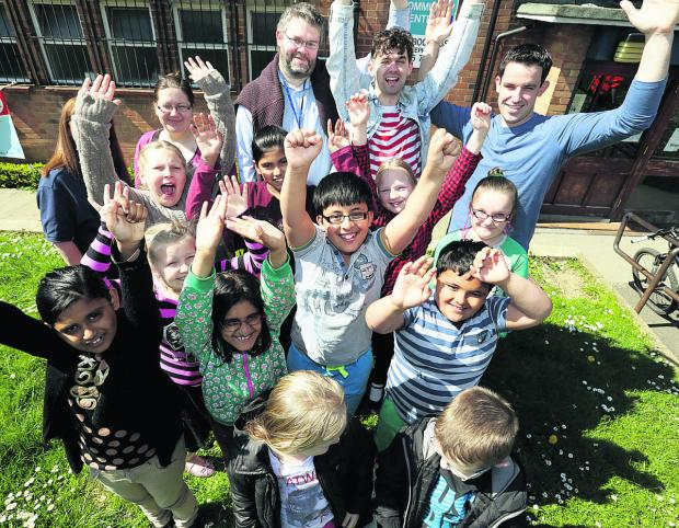 Members of Rose Hill Junior Youth Club celebrate the news