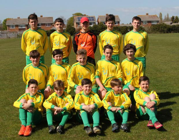 Vale of White Horse Under 13s, who won all their matches at the ESFA Isle of Wight Festival