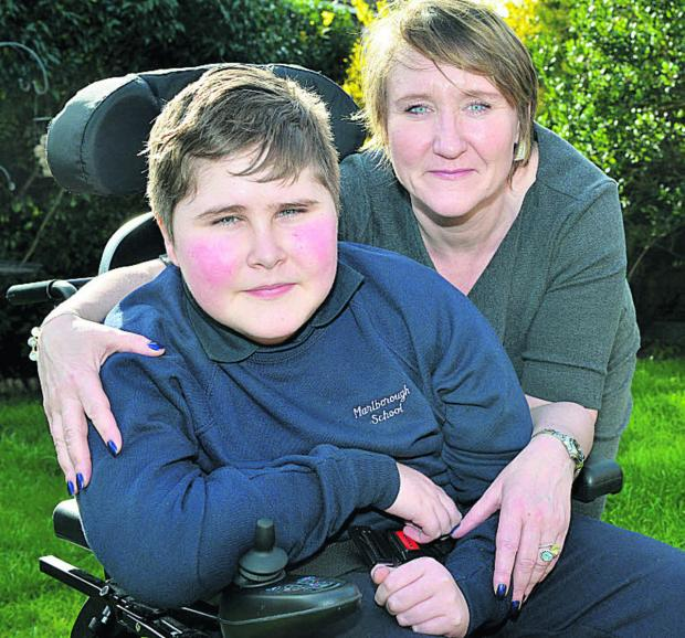 Muscular dystrophy sufferer 12-year-old Ethan Browne with mum Amanda   Picture: OX66298  Simon Williams