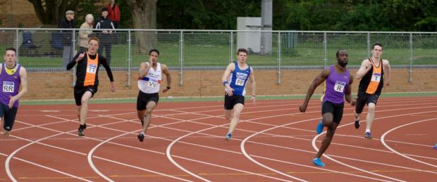 Radley's Ramone Smith powers to victory in the 200m at Peterborough where he also broke the Division 1 100m record