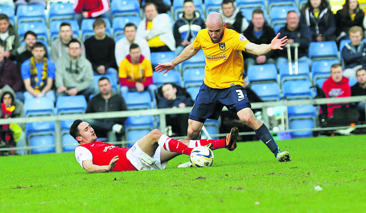 Tom Newey (right) was among the players who felt the pitch held United back against York