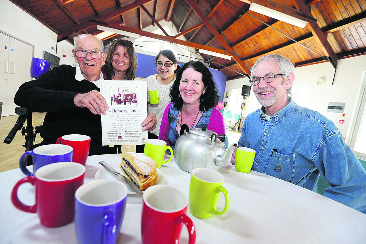Cafe organisers, from left, Harry Holtum, Kerry Winfield, Maddie Buc
