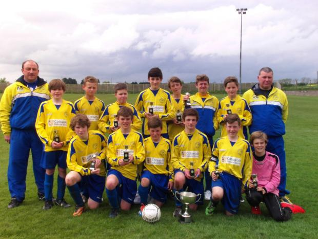 Treble winners Ducklington Under 13s