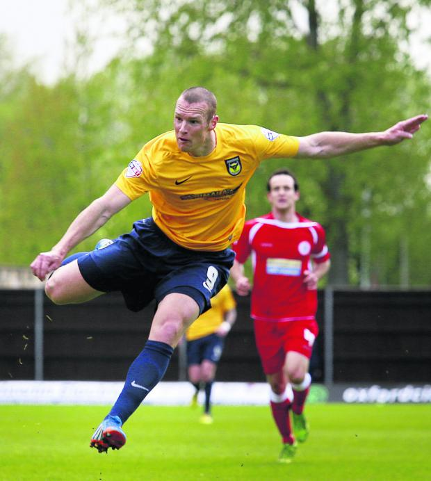 Oxford Mail: James Constable still needs one goal to equal Oxford United's goalscoring record