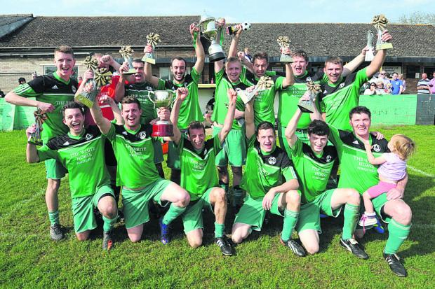 Forest Hill celebrate winning the Devenney Cup  Picture: Denis Kennedy Order no: OX66963