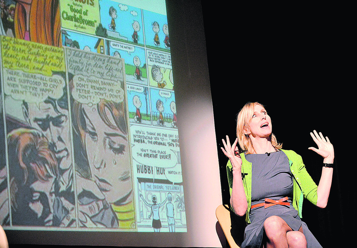 Lauren Child, muti award-winning best selling author of Charlie and Lola, who launched Chipping Norton Literary Festival, whi