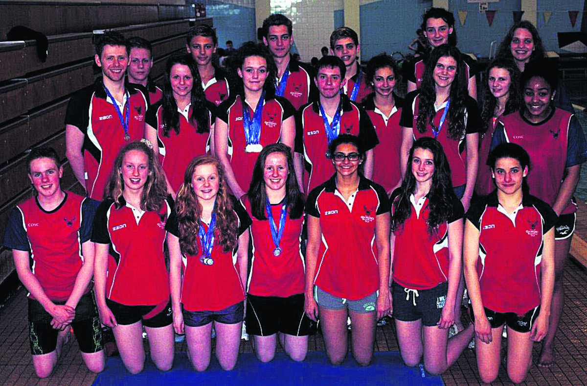 Some of the City of Oxford team who won 30 medals at the South East Region Youth Championships